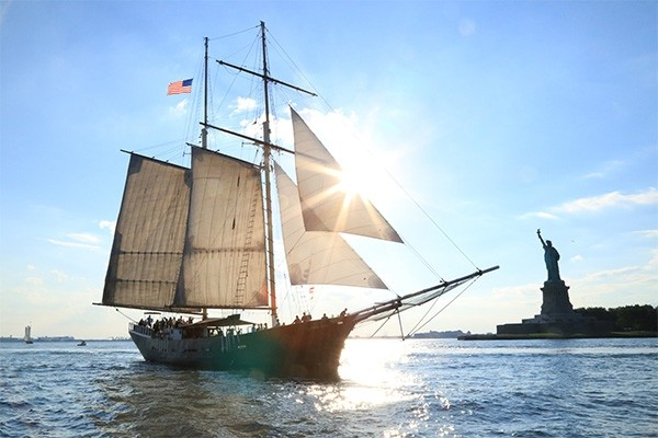 Daytime Statue Sail on the Clipper City Tall Ship