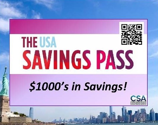The USA Savings Pass - $1000's in Savings!