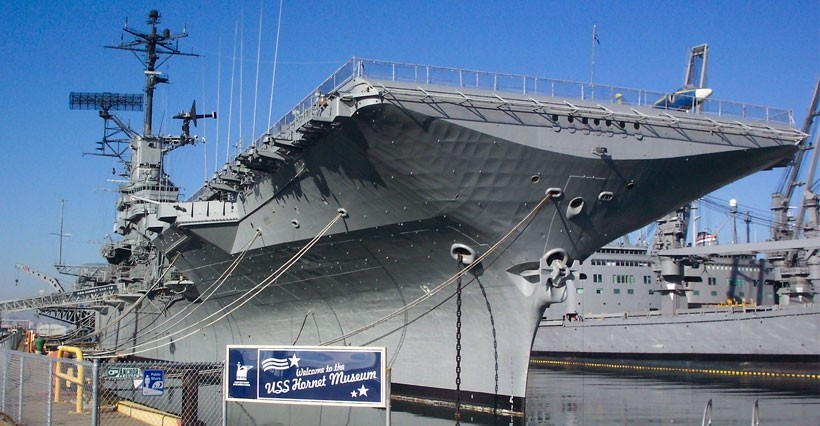 USS Hornet Entry Admission